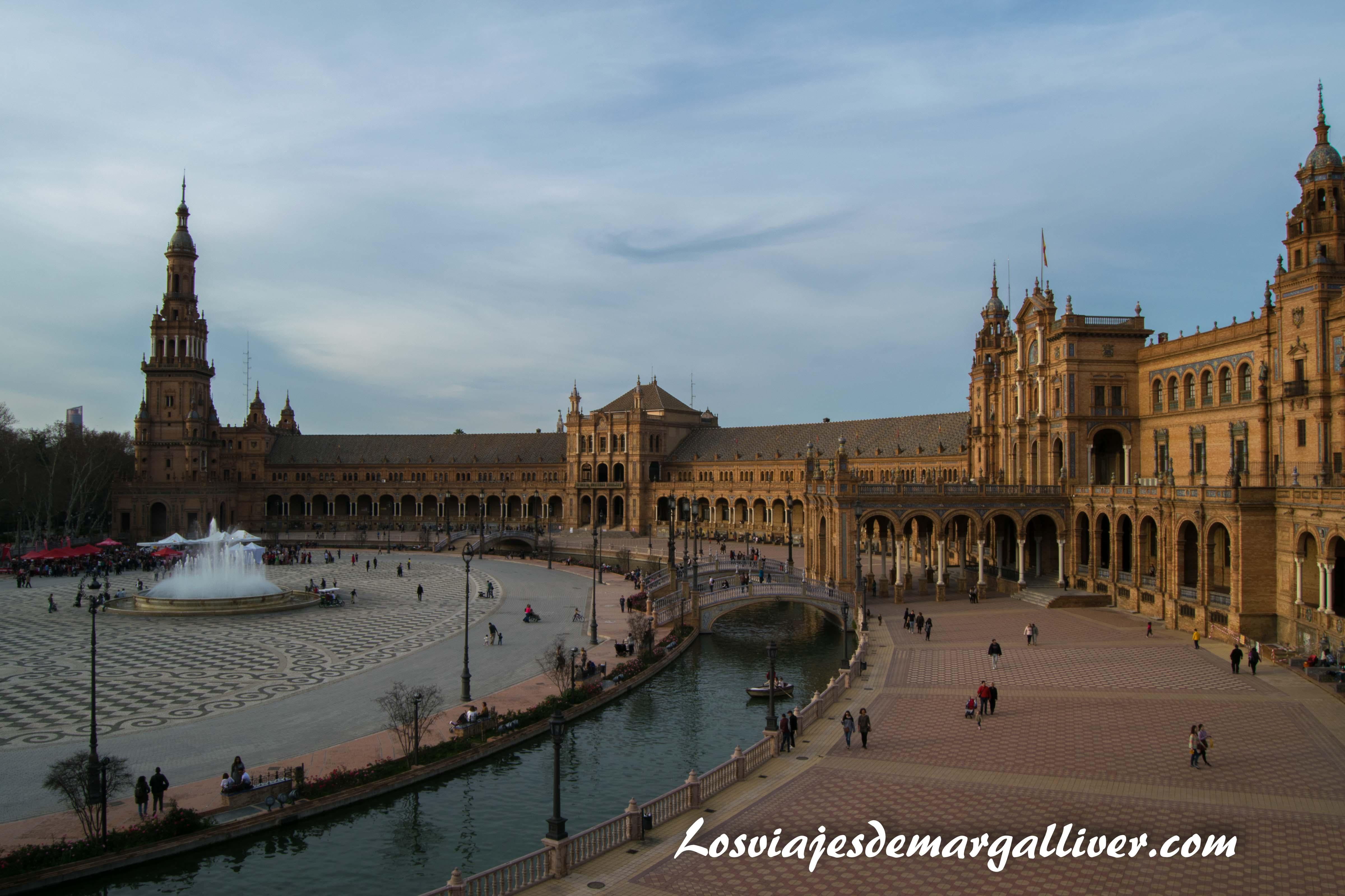 Plaza de España de Sevilla vista desde arriba , ruta por Sevilla - Los viajes de Margalliver
